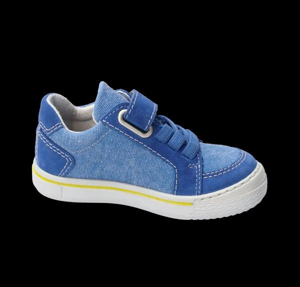 Ricosta JONA Velcro Trainers (Jeans Blue/Yellow)